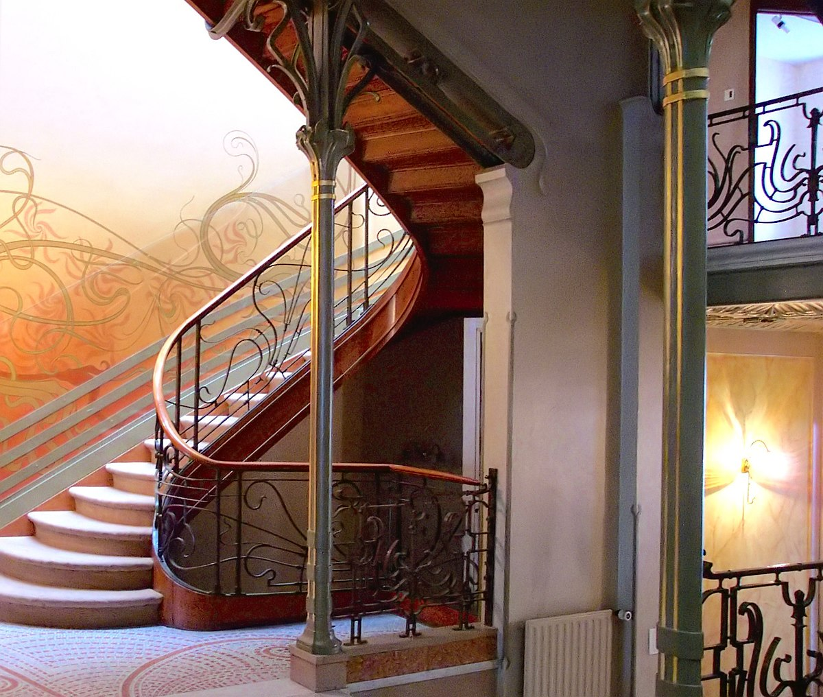 Interior of Hôtel Tassel by Victor Horta (1892–1893)