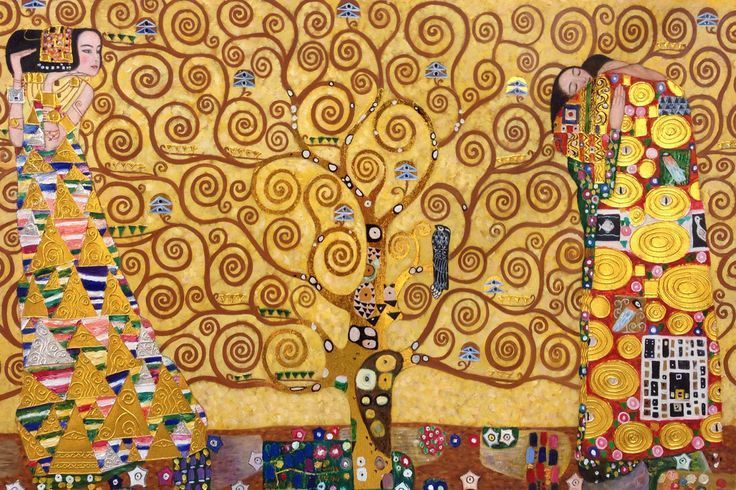 Gustav Klimt-The Expectation, Tree of Life, (1905-1909)